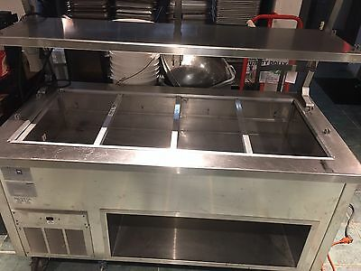 Buffet table, Del-field Shelly steel 4 well Cold Buffet with 2 shelved  Lighted