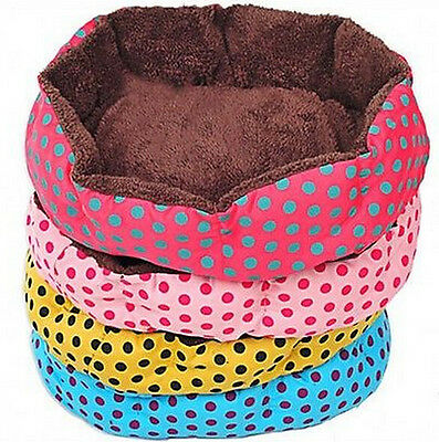 Small Large Polka Dot Pet Dog Puppy Cat Soft Warm Bed House Nest Mat Pad