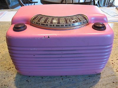 "Philco 46-420 ""Hippo"" tube bakelite radio, plays great"