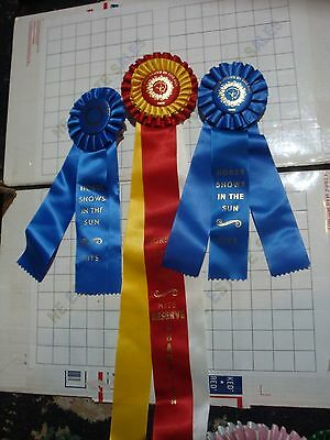 lot 3x HORSE SHOW RIBBONs AWARD Horse Shows in the Sun Hits / Horses Equestrian