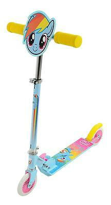 My Little Pony Rainbow Dash Folding In Line Push Kick Kids Girls Scooter M14247