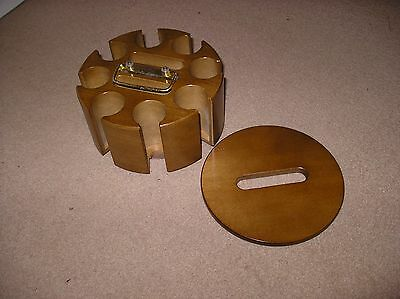 Revolving Wooden Poker Chip Rack without chips