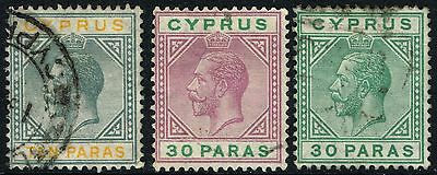Sg 86-88 Cyprus 1921-23 Definatives - Used