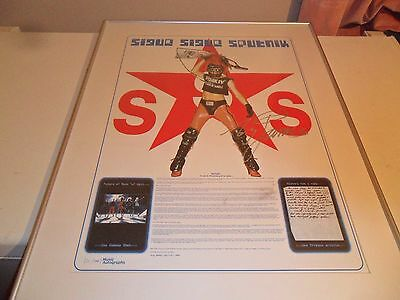 Sigue Sigue Sputnik History Will Prove Us Right Poster Tony James Signed