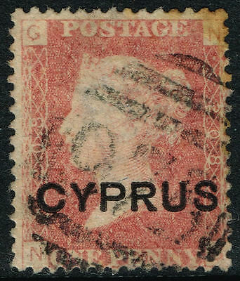 SG 2 (208) CYPRUS 1880 - 1d RED (pl. 208) - USED
