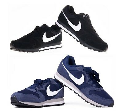 Nike Mens Trainers Shoes MD Runner 2 Black White