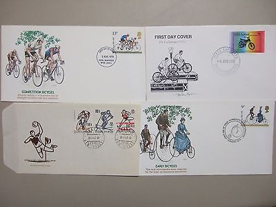 Four fdc with CYCLING stamps