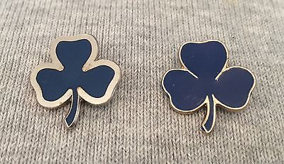 2 poss Vintage girl guide Blue Enamel Trefoil pin badges