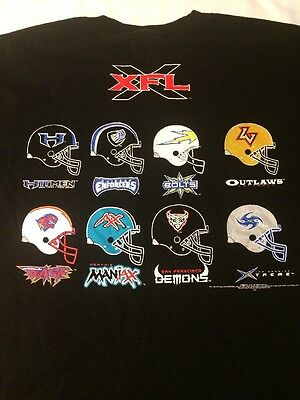 XFL Football  League Teams Shirt Black Alstyle XL