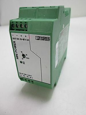 Phoenix Contact Mini-PS-100-240AC/10-15DC/2 Power Supply 10-15VDC Output @ 2A