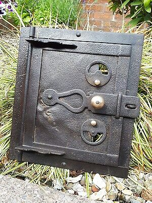 Vintage Cast Iron And Tin Oven Door
