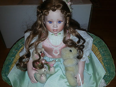 Chloe The Perfect Little Lady Porcelain Doll Hamilton Collection Original BoxCOA