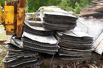 Flat Rate Ship W/1,000' {Full Sheets Available } Reclaimed Metal Corrugated Tin