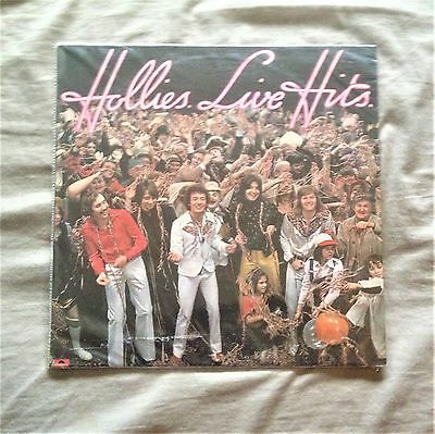 "Hollies Live Hits LP Vinyl Album Record 12"" UK 1976 Polydor Stereo 33RPM HOLLIES"