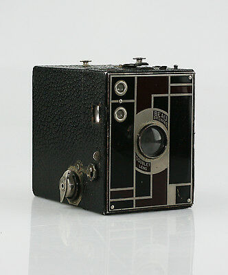 KODAK Beau Brownie No.2 Box Camera in Black/Burgundy c.1930-33 (KZ40)