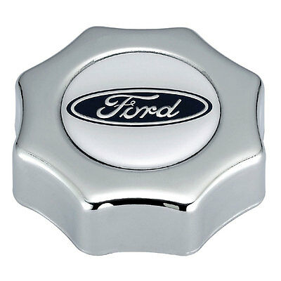 Mustang Oil Cap Screw-In Chrome with Ford Logo EFI 1986-2000