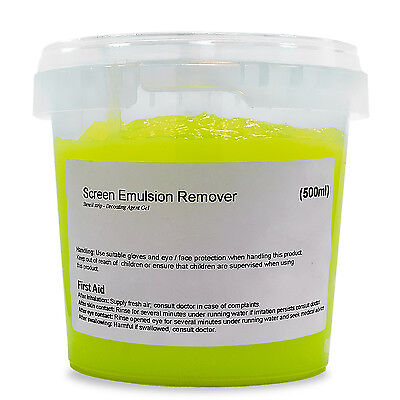 Screen printing emulsion remover- Stencil strip - Screen decoater - 500ml