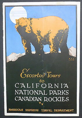 1928 - American Express Tours to CA; National Parks; Canadian Rockies Brochure