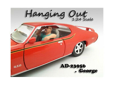 """Diecast -Hanging Out"""" George Figure For 1:24 Scale Models by American Diorama"""""""