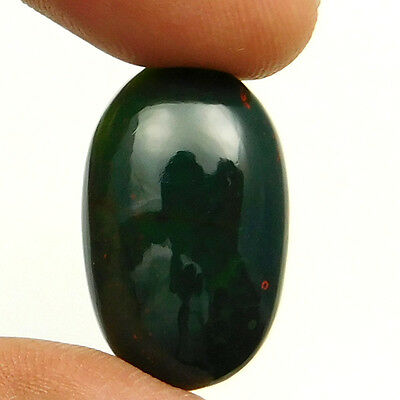 21.55 cts Natural Nice Untreated Bloodstone Gemstone Oval Shape Loose Cabochon
