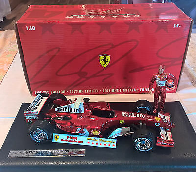 Ferrari F2004 M.schumacher 7 World Champion Limited Edition Hot Wheels 1/18