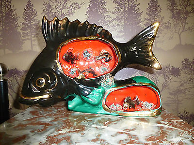 LARGE VINTAGE FRENCH VALLAURIS FISH LAMP CIRCA 1960's