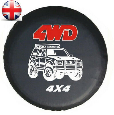 """UK 17"""" 4WD Spare Tire Cover Wheel Tyre Covers fit for all car Diameter 80-83cm"""