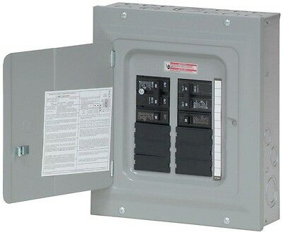 Eaton Main Circuit Breaker Panel Box 100 Amp BR Load Center w/ 2-BR115 and