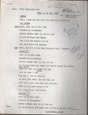 Elvis Presley Personal Owned Lyric Sheets Yoga Is As Yoga Does Easy Come Easy Go