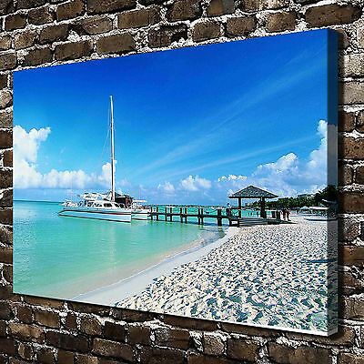 Beautiful beach photography HD Canvas Print Home Decor Painting Wall Art Picture