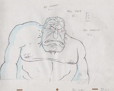 REN & STIMPY Production Cel Pencil Drawing Cell COA Animation Art Visit Anthony