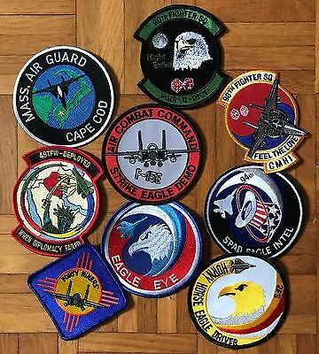 Air Force, USAF, Patch Lot, Various, F-15