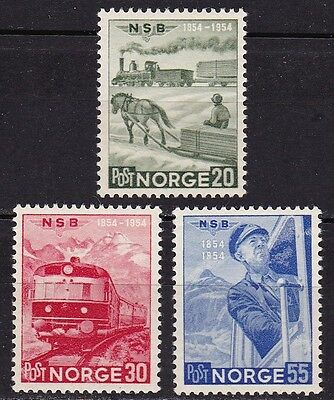 NORWAY #331-333 MDG CENTENARY 1st NORWEGIAN RAILWAY