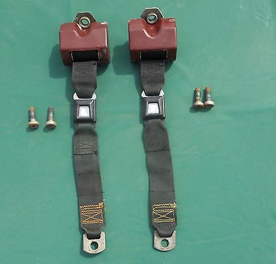 74 - 78 Ford Mustang II Cobra II Rear Seat Belts   Black OEM