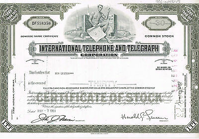International Telephone And Telegraph Corp., USA/Delaware - 30 Shares -  7.5.69