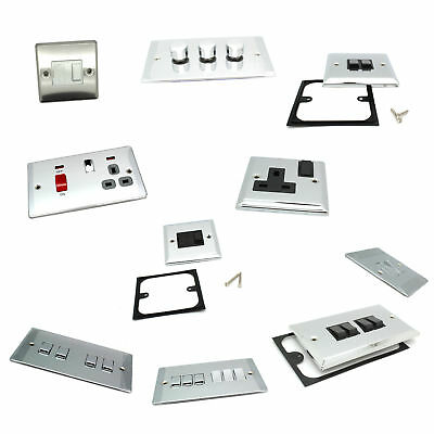 British General Chrome Home House Light Switches / Electrical Sockets