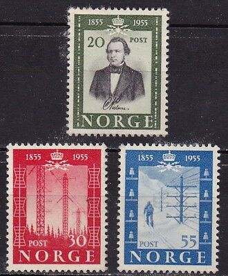 NORWAY #334-336 MNG CENTENARY 1st NORWEGIAN PUBLIC TELEGRAPH LINE