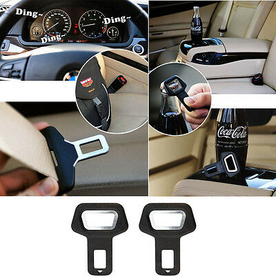 Fasteners 2 Car Auto Vehicle Seat Belt Buckle Clip Alarm Stopper Stop Safety