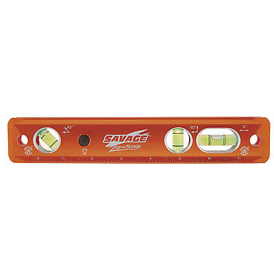 Swanson TLL049M 9-Inch Savage Lighted Torpedo Level with Neodymium Magnets