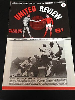 Manchester United  V  Chelsea 1966/67   Programme Title Winning Season Exc Cond