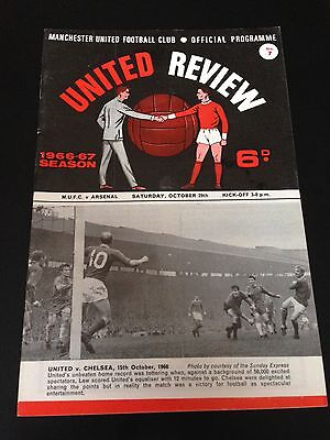 Manchester United  V Arsenal 1966/67 Programme Title Winning Year Excellent Cond
