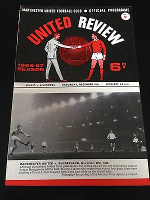 Manchester United V Liverpool 1966/67 Programme Title Wining Year Excellent Cond