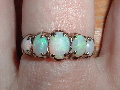 Antique Victorian 9ct Gold Opal Ring Free Sizing