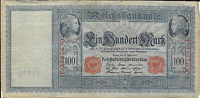 German Weimar Germany 100 Reichsbanknote Currency Note 1910 - Qty 3