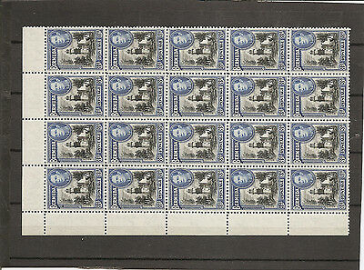 BERMUDA 1941  3d  SG114a unmounted mint block of 20