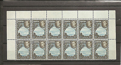 BERMUDA 1952  Two and a half pence  SG113c unmounted mint block