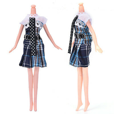 """New Fashion Beautiful Handmade Party Clothes Dress for 9"""" Barbie Doll EE"""