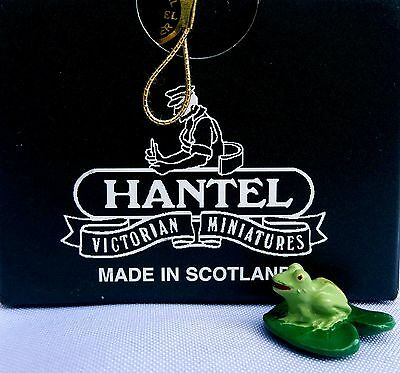 HANTEL Miniatures 'Frog On A Lily Pad' RETIRED Made in Scotland