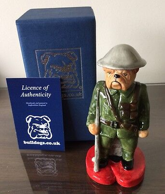 Peggy Davies - Ww1 Soldier Bulldog - Only 2 Left