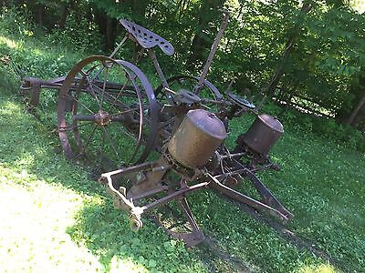 antique horse drawn seeder